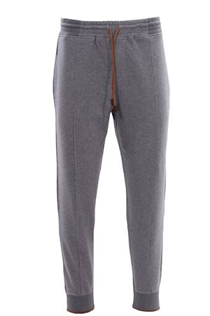 Pantalone jogging in felpa stretch con contrasti LA FILERIA | 5032272 | 7610675701051
