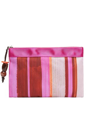 Pouch painted stripes