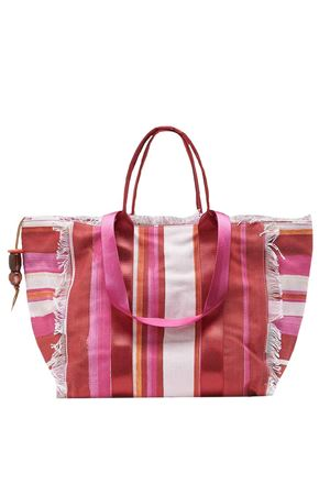 Shopping bag painted stripes