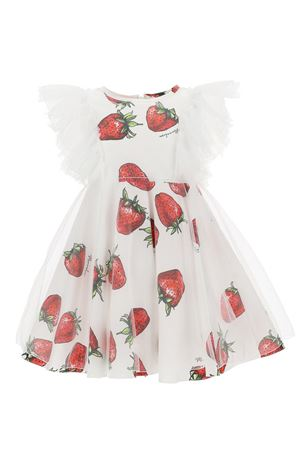 Tulle dress with strawberries
