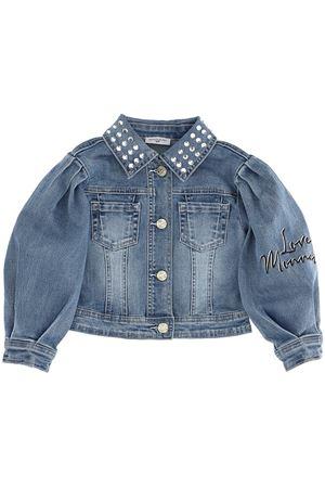 Denim jacket with rhinestones MONNALISA | 5032285 | 197104A770340062