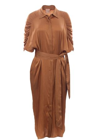 Long dress with belt