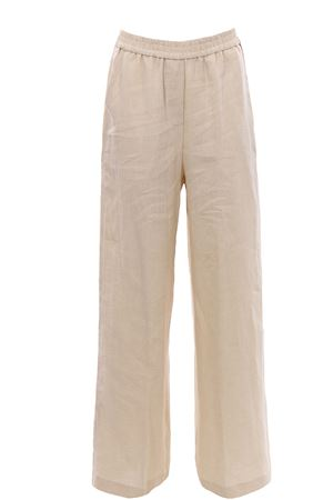 Linen pants lurex effect
