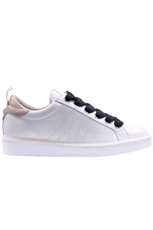 Sneakers low cut lace leather metal