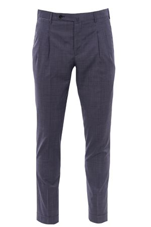 Micro houndstooth pants in wool canvas PT | 5032272 | HF22ZS0CL1MA990170