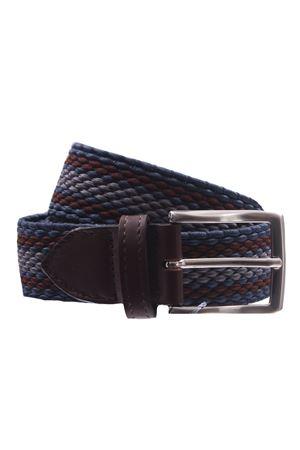 Elasticated striped belt SADDLER