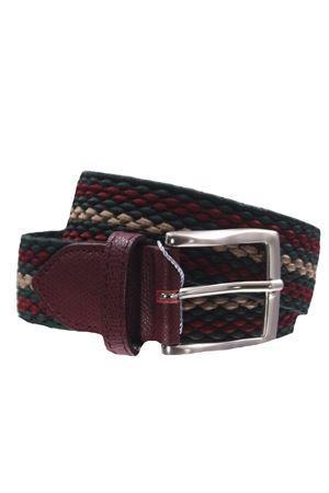 Cintura intreccio elastico rigato SADDLER
