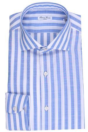 Camicia riga larga in cotone effetto lino SARTORIA CAMPO   5032279   GH34101