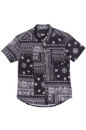 Camicia manica corta SHOE | 5032279 | WILSON44BIANCO-NERO