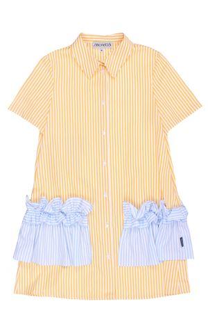 Striped dress with ruffles SIMONETTA | 5032276 | 1011610C710100GL