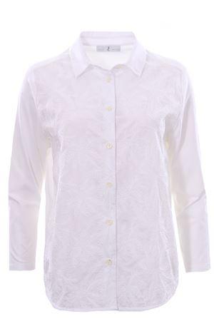 Camicia bimaterica con ricamo WHYCI | 5032279 | WH3200002