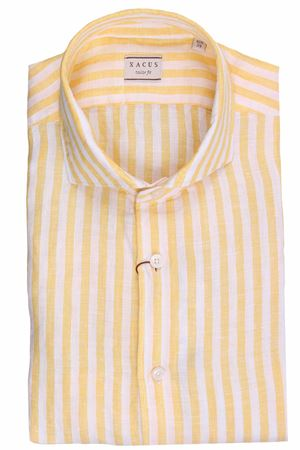 Camicia a righe in lino tinto filo XACUS | 5032279 | 722ML81225004