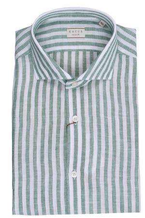Striped linen shirt XACUS | 5032279 | 722ML81225006