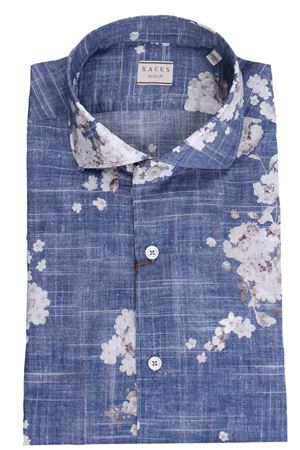 Camicia stampa floreale in denim light XACUS | 5032279 | 722ML81565001