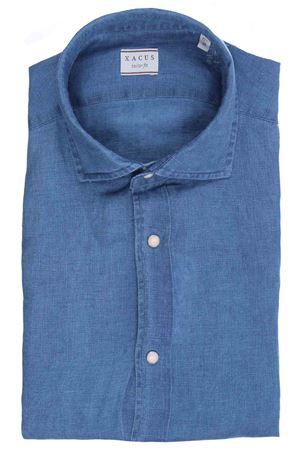 Camicia in lino filato indaco XACUS | 5032279 | 749ML81161001
