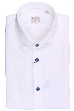 Camicia in cotone e lino con bottoni a contrasto XACUS | 5032279 | BC748ML81756733