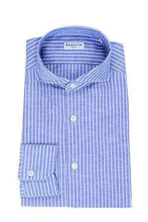 Camicia in lino e cotone a righe BAGUTTA | 5032279 | SIENAB07922251