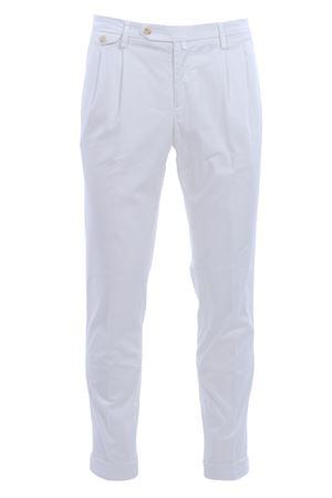 Pantalone easy spina effetto riga di cotone stretch BRIGLIA | 5032272 | BG02385295150