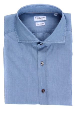 Camicia jeans in cotone lavato leggero CUCINELLI | 5032279 | M085U1718C4008
