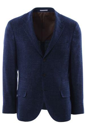 Giacca check in lino lana e seta CUCINELLI | 5032284 | MD4347BTDC409