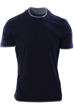 T-shirt effetto doppiato CUCINELLI | 8 | MOT617427CD325