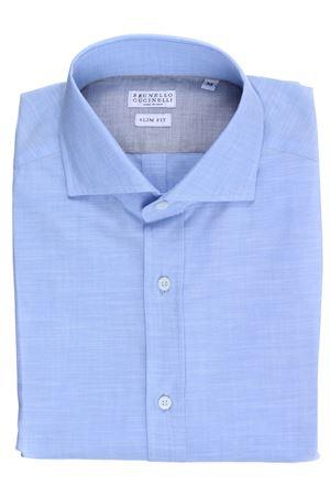 Camicia in cotone fiammato leggero CUCINELLI | 5032279 | MS6661718C012