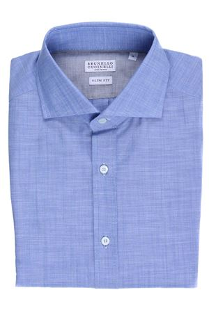 Camicia in cotone fiammato leggero CUCINELLI | 5032279 | MS6661718C013