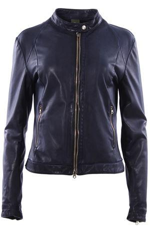 Leather biker with mandarin collar DELAN | 5032285 | T419SD193980