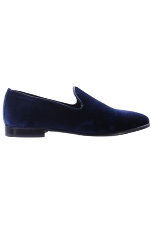 Smooth velvet loafers