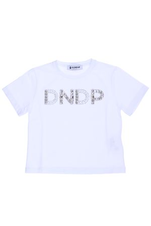 T-shirt con perle e strass DONDUP | 8 | DFTS29JE95RD1060534