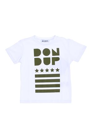 T-shirt manica corta con stampa DONDUP | 8 | DMTS21JE134RD0150079
