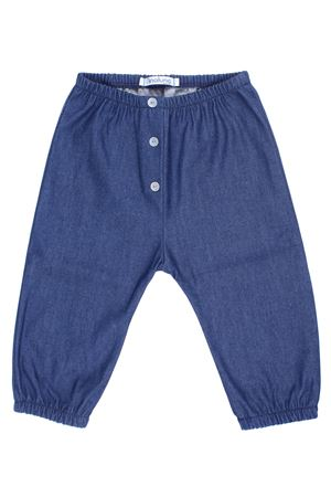 Cotton pants denim effect