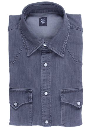 Camicia texana in denim stretch ELEVENTY | 5032279 | 979CA0080CAM2506806