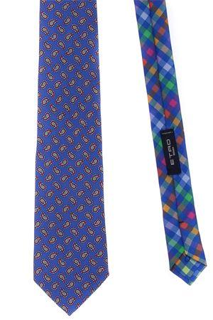 Cravatta 2 tessuti in seta stampata ETRO | 5032289 | 130055006201