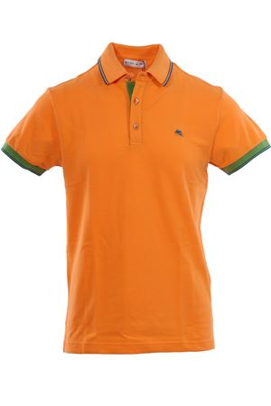 Cotton polo with contrasts