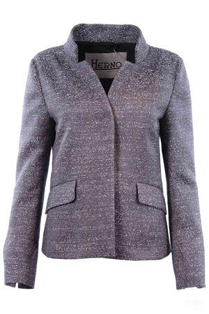 Melange jacket with mandarin collar HERNO | 5032284 | GA0135D138079400