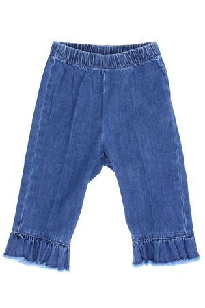 Pantalone capri effetto denim IL GUFO | 5032272 | P18PR029J0003483