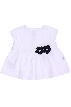 T-shirt in cotone con fiori IL GUFO | 8 | P18TS157M00320149