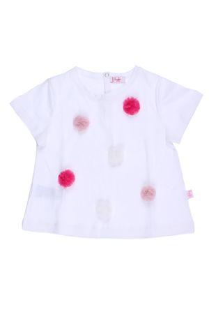 T-shirt con pon pon applicati IL GUFO | 8 | P18TS158M00140136