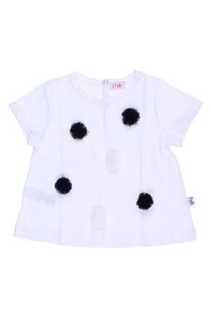 T-shirt con pon pon applicati IL GUFO | 8 | P18TS158M00140149