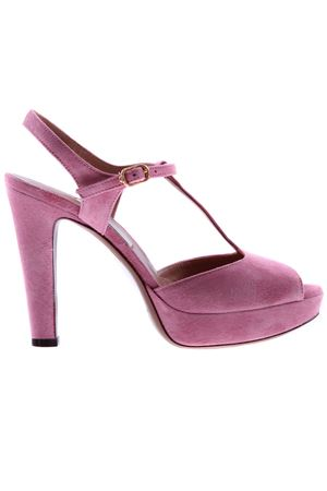 Suede sandals with high heel L