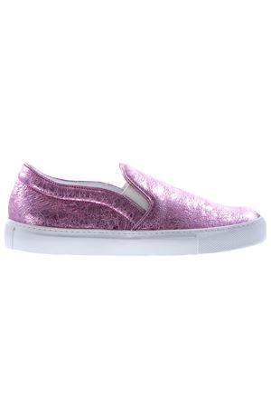 Leather crackle slip-on L