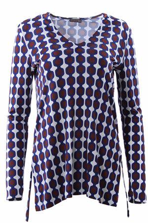 T-shirt collo a v in viscosa MALIPARMI | 8 | JK010577087A1154