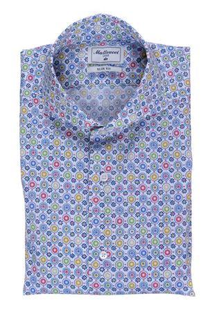 Camicia stretch stampa multicolor MATTEUCCI 1939 | 5032279 | B164L07631630