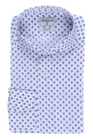 Camicia stretch stampa tartarughe MATTEUCCI 1939 | 5032279 | B164L07638650
