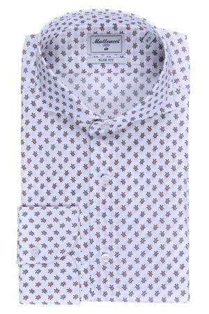 Camicia stretch stampa tartarughe MATTEUCCI 1939 | 5032279 | B164L07638670