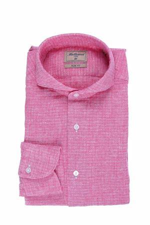 Camicia in lino e cotone operato MATTEUCCI 1939 | 5032279 | BW164L07634230
