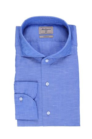 Camicia in cotone e lino MATTEUCCI 1939   5032279   BW164L07906051