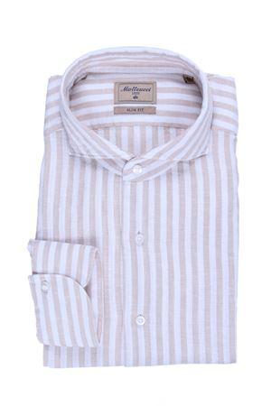 Camicia rigata in lino e cotone MATTEUCCI 1939 | 5032279 | BW164L07909210