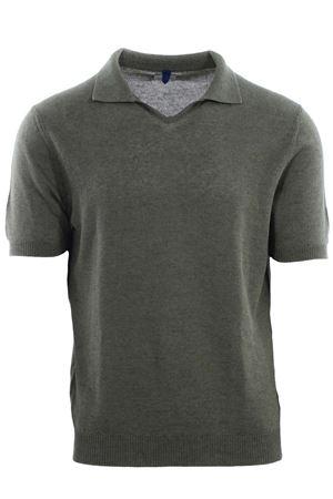 Polo maglia collo a v in lino e cotone MC LAUREN | 2 | CM602P80GERBY36